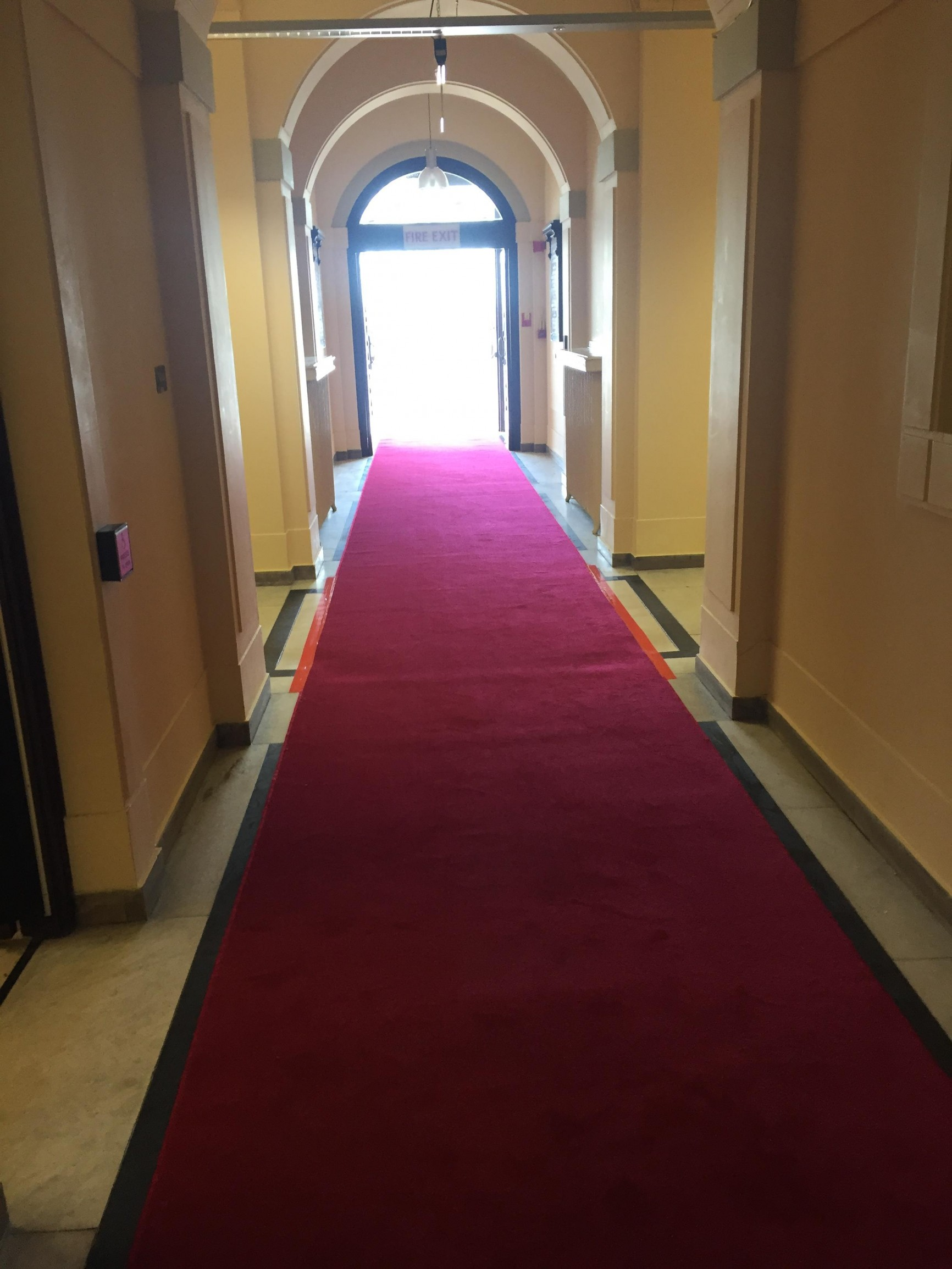 Red carpet at Wallasey Town Hall, Wirral