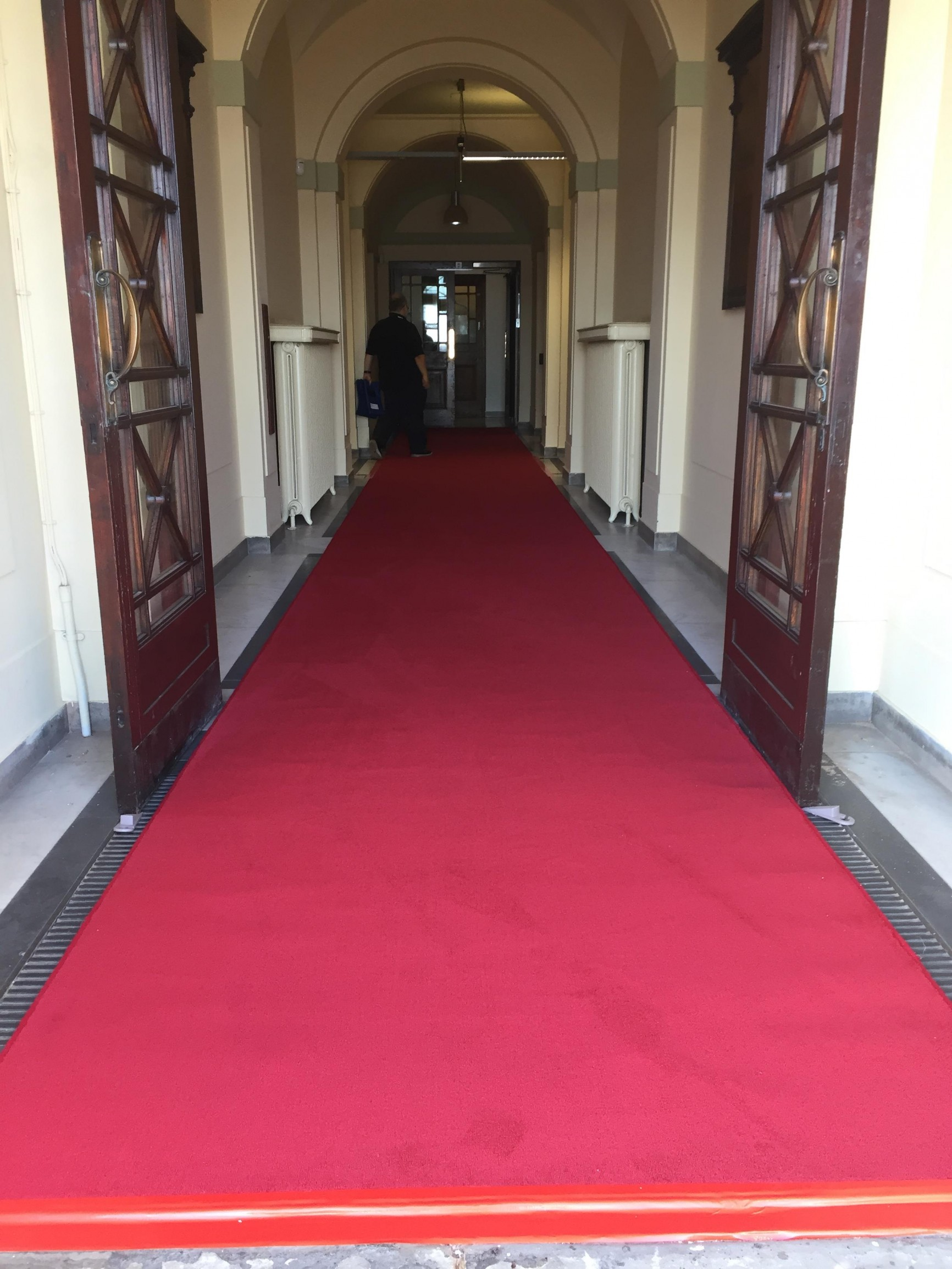 Red carpet at Wallasey Town Hall in Wirral