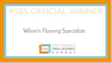 Wilson's Flooring Specialists winners of SBS