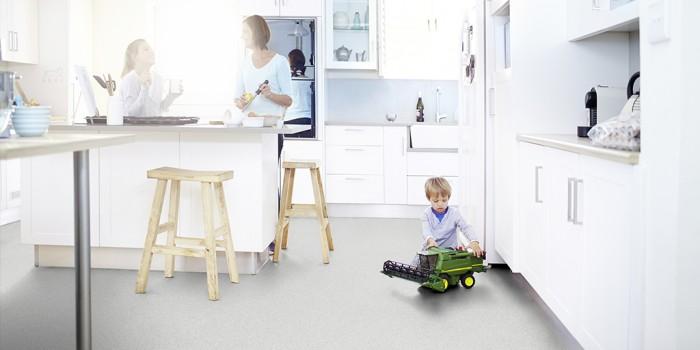 Kitchen safety hygienic flooring Tarkett